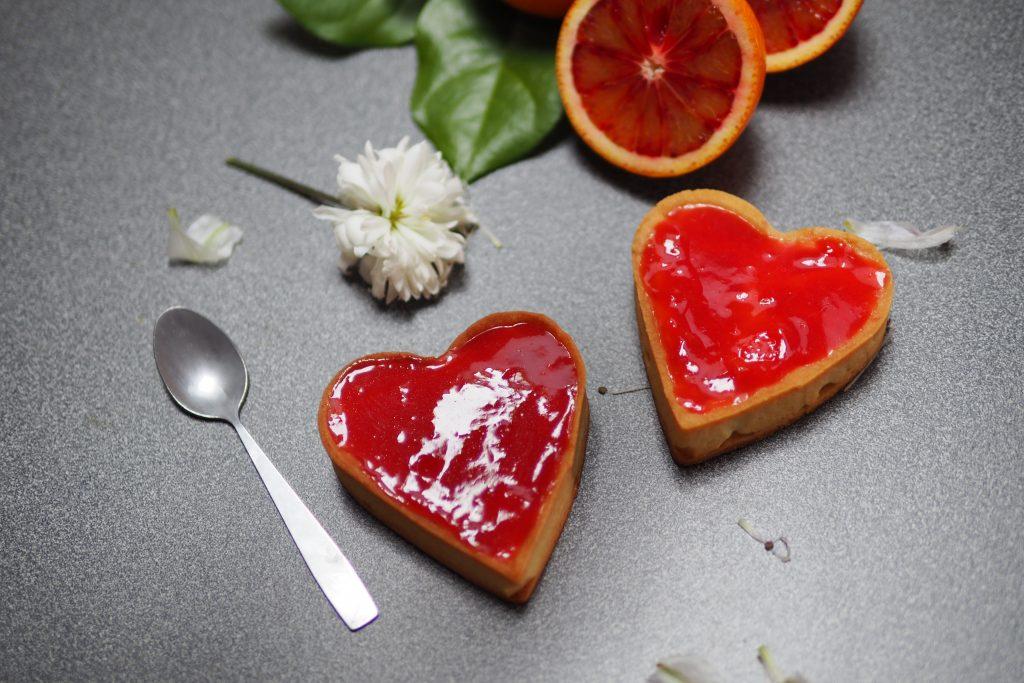 tartelette orange sanguine chocolat
