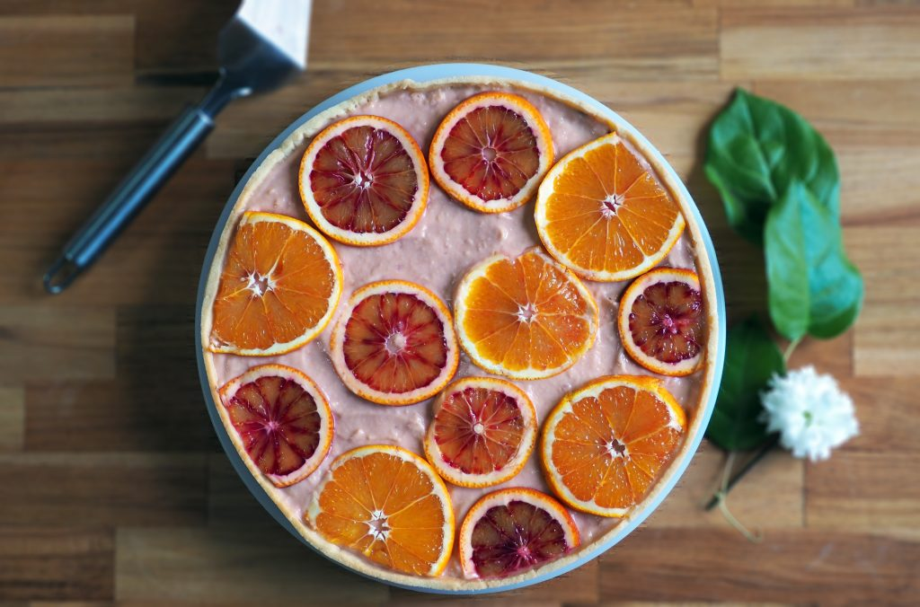 tarte orange sanguine chocolat