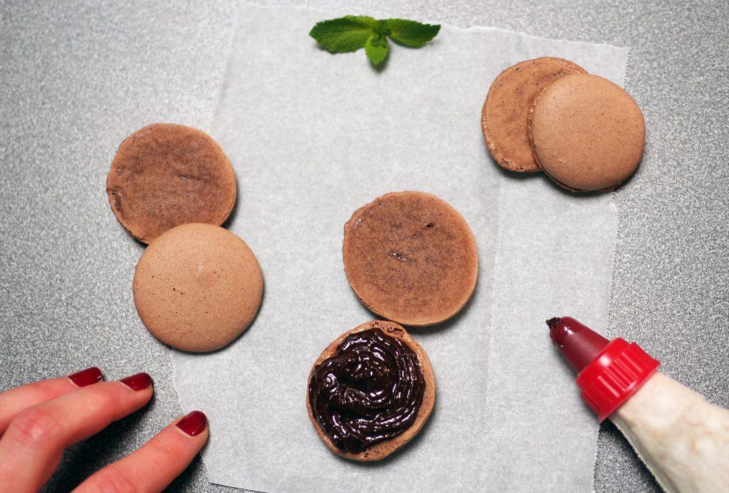 macarons vegan au chocolat