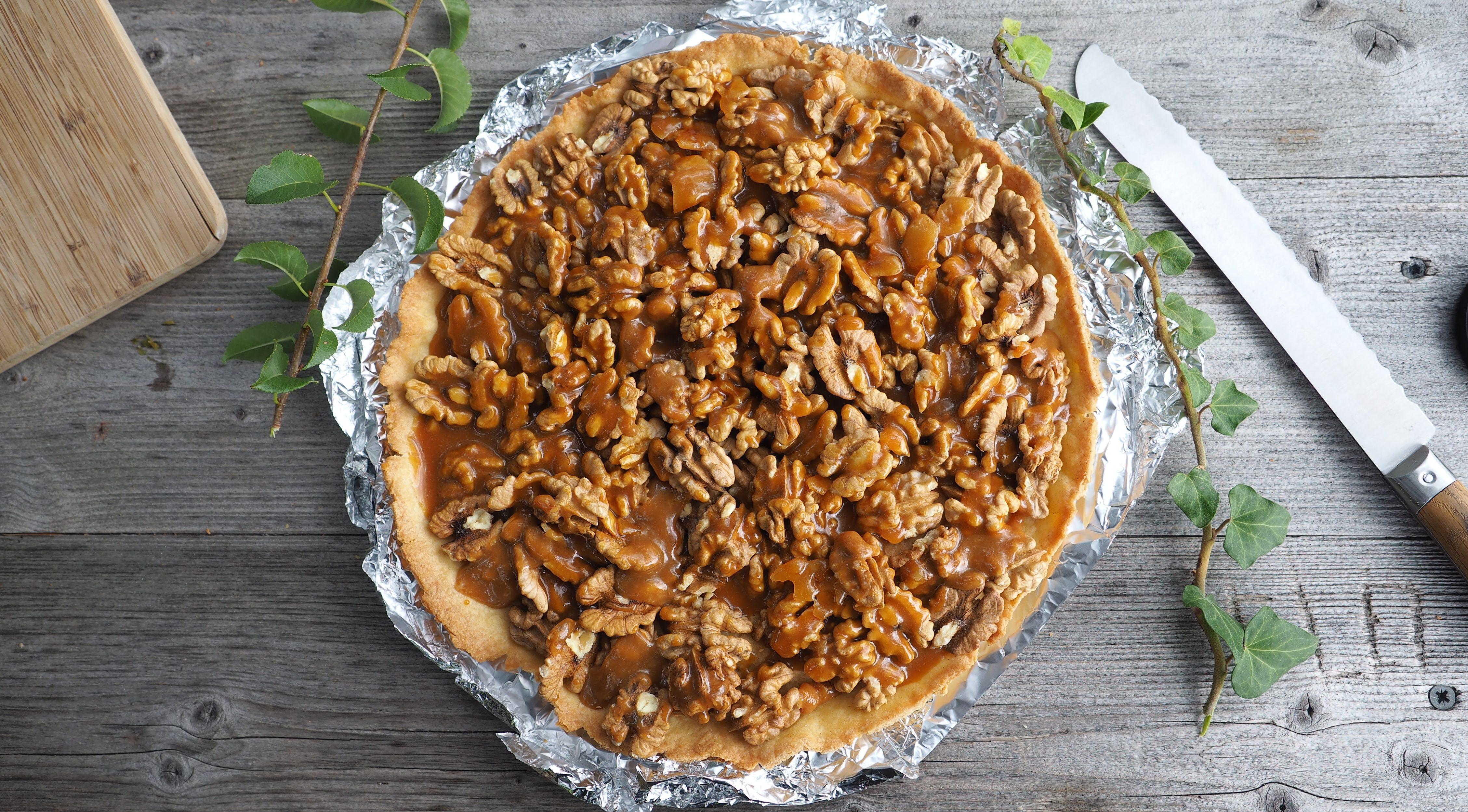 tarte noix grenoble caramel
