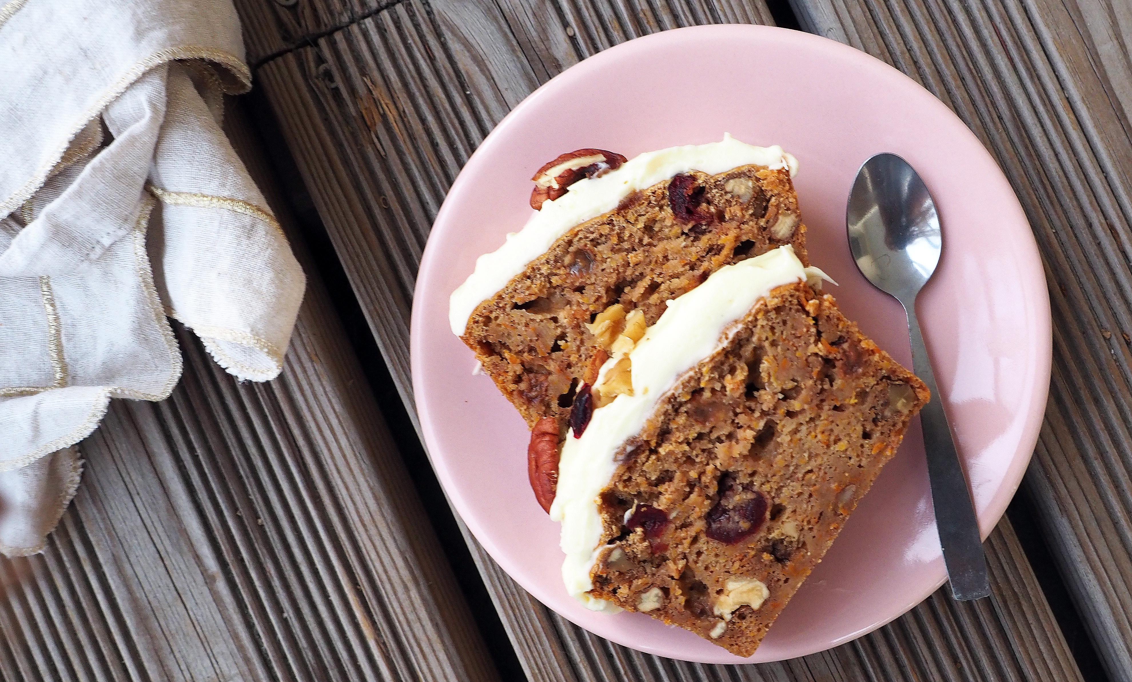 carrot cake léger glacage gourmand