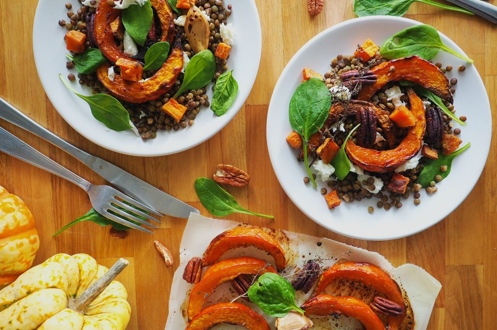 Repas de fêtes végétarien