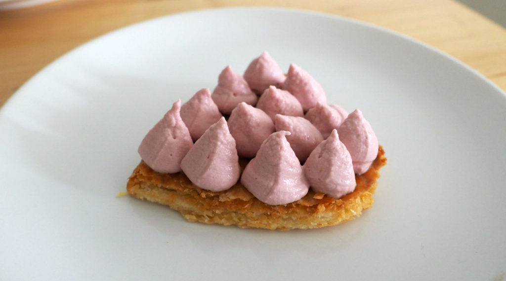 mille-feuille chocolat framboise saint valentin