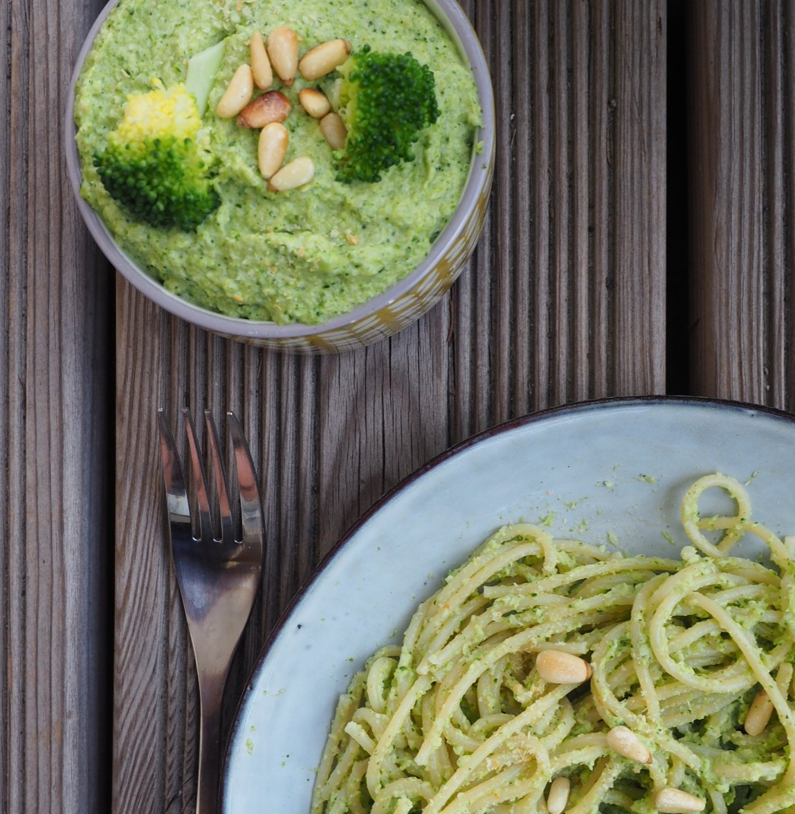 Pesto végétal aux brocolis